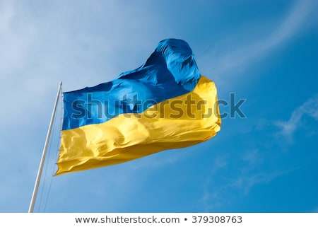 Europa Ucrânia bandeira fundo assinar azul Foto stock © netkov1