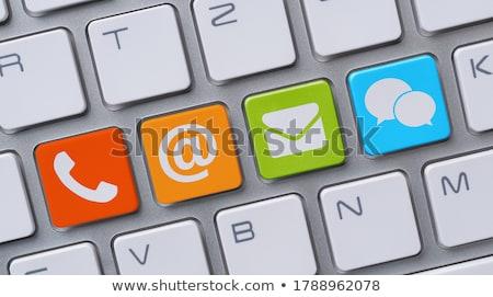 vermelho · contato · teclas · negócio · computador - foto stock © fuzzbones0