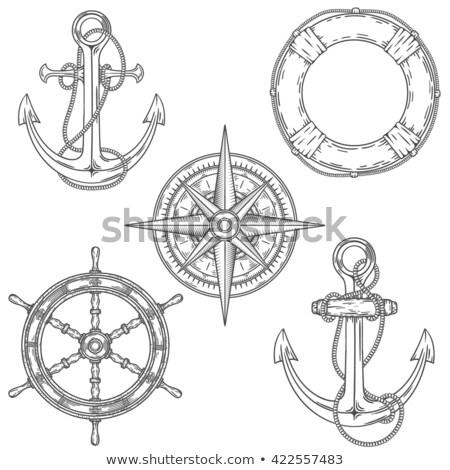 colored Pirates set. Hand drawn Stock photo © netkov1