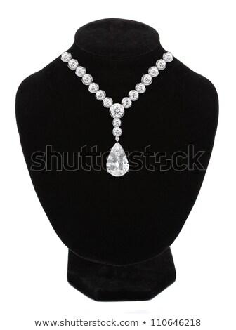 Stockfoto: Juweel · stenen · zwarte · etalagepop · geïsoleerd · witte