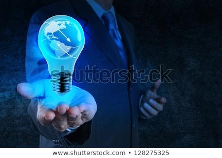 átlátszó villanykörte gömb víz alkotóelem fény Stock fotó © Fosin