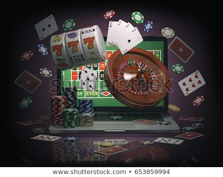 vonal · póker · hazárdjáték · sültkrumpli · kártyák · zöld - stock fotó © stokkete
