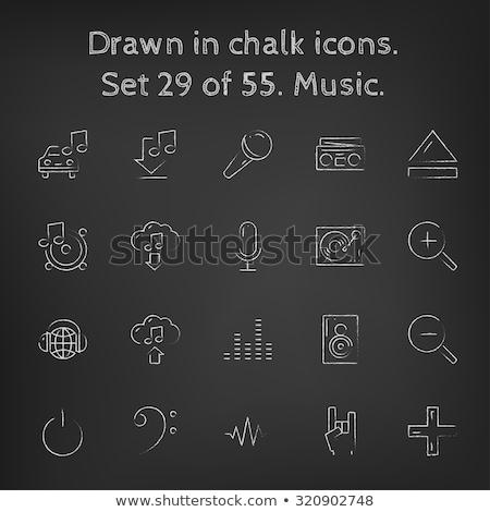 tecnologia · música · verde · vítreo · botão · ícone - foto stock © rastudio
