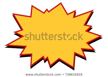 облаке желтый вектора икона кнопки веб Сток-фото © rizwanali3d