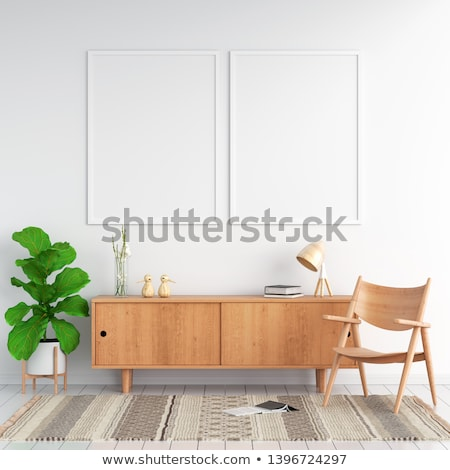 two frames on white wood wall Stock photo © Paha_L