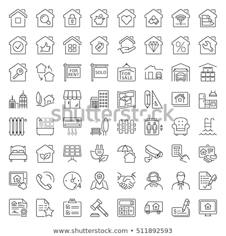 eco house   real estate icon stock photo © djdarkflower