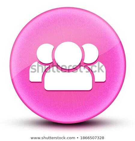 Female sign icon glossy black round button Stock photo © faysalfarhan