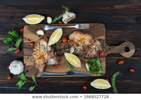 disznóhús · kotlett · háttér · hús · ebéd · zöldség - stock fotó © digifoodstock