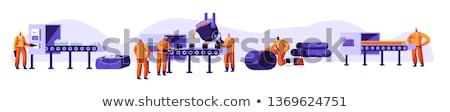 Stali przemysłu ilustracja stylizowany ciężki działalności Zdjęcia stock © tracer