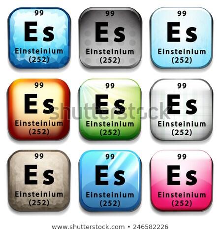 A button showing the element Einsteinium Stock photo © bluering