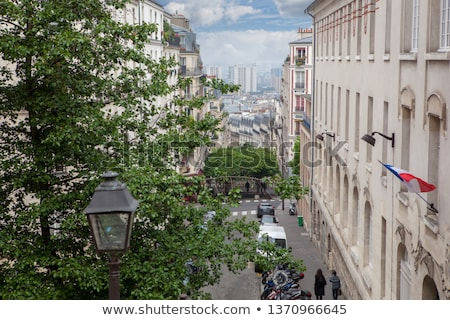 Roofs in residential quarter of Montmartre Stock photo © artjazz