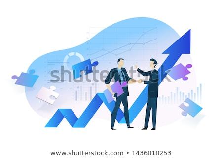 бизнеса роста графа прогресс графических диаграммы Сток-фото © Filata