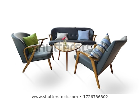 set of kitchen furniture isolated on white stock photo © elnur