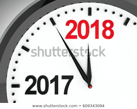 Clock dial 2017 stock photo © Oakozhan