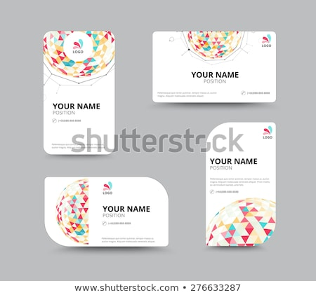 A light colored business card Stock photo © bluering