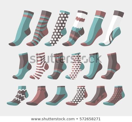 Twee verschillend sokken weinig jongens voeten Stockfoto © zurijeta