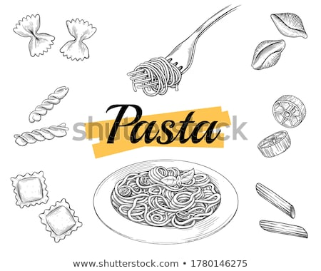pasta farfalle on a fork Stock photo © mady70
