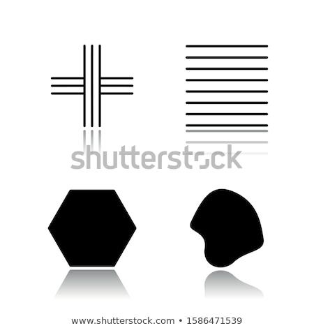 fekete · mértani · elemek · vonalak · háromszög · rajz - stock fotó © vanzyst