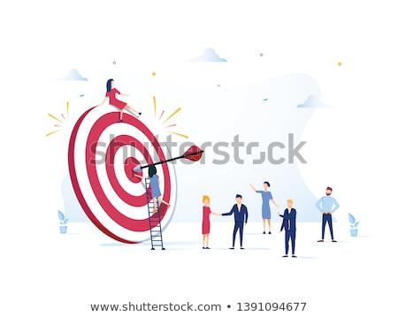 teamwork target goal stock photo © lightsource