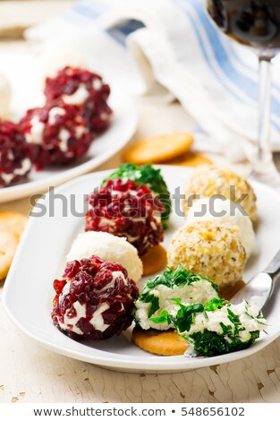 Mini Cheese Ballsselective Focus Сток-фото © zoryanchik