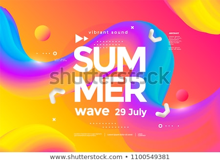 music party event flyer with colorful background Stock photo © SArts