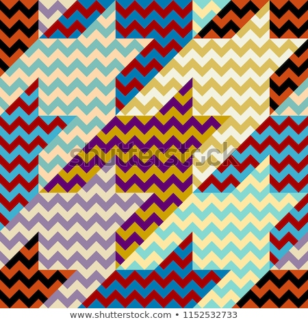 Pattern in zigzag. Classic chevron seamless pattern. Vector design Stock photo © fresh_5265954