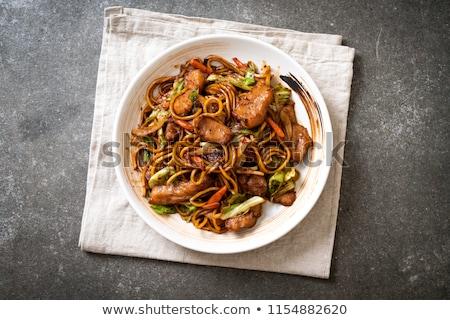 disznóhús · zöldség · japán · étel · nyár · vacsora · tészta - stock fotó © monkey_business