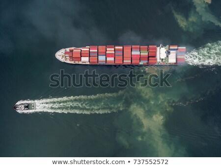 Dokk kettő hajók motorcsónak kajak víz Stock fotó © iofoto