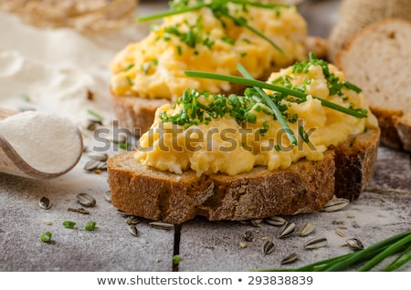 Scrambled eggs and toasted bread Stock photo © Digifoodstock