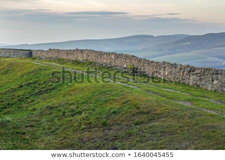 ściany ruiny twierdza słońce dzień budowy Zdjęcia stock © ssuaphoto