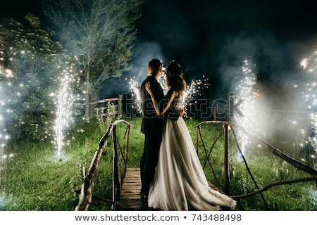 bride and groom  on the background of sky Stock photo © tekso