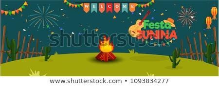 wakacje · festiwalu · szczęśliwy · tle · zabawy · plakat - zdjęcia stock © SArts