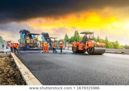 Jelenet dolgozik építkezés illusztráció építkezés művészet Stock fotó © bluering