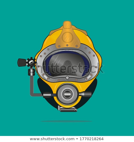 Oude school duiken helm tekening schets Stockfoto © patrimonio