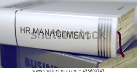 Búsqueda de empleo negocios libro título 3d espina Foto stock © tashatuvango
