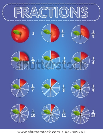 fractions apple on top Stock photo © Olena