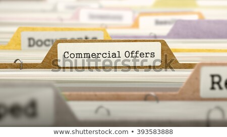Commercial Offers Concept on Folder Register. Stock photo © tashatuvango