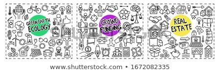 Crowd Funding - Hand Drawn Illustration on Green Chalkboard. Stock photo © tashatuvango