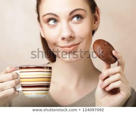 сидят кафе еды Sweet Сток-фото © monkey_business