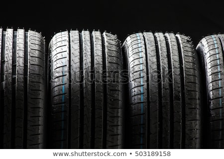 Stock photo: Stack of brand new high performance car tires