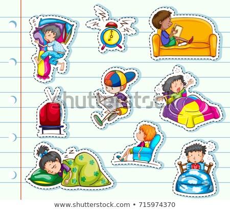 slaap · grafisch · ontwerp · sjabloon · vector · geïsoleerd · illustratie - stockfoto © bluering