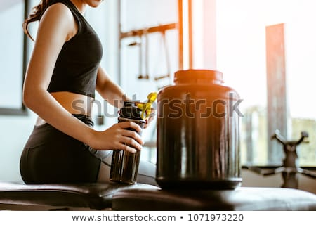 Man and woman preparing healthy drink Stock photo © IS2