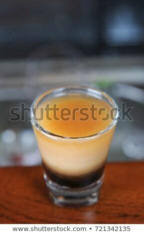Cam kremsi kokteyl bar alkol Stok fotoğraf © dolgachov