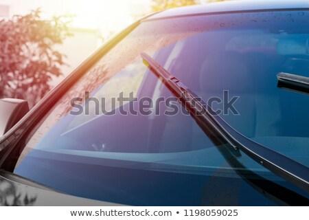 Windscherm reparatie illustratie straat glas gebroken Stockfoto © adrenalina