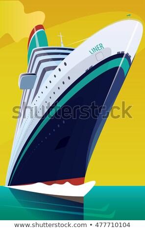 Cruzeiro ondas grande belo abrir mar Foto stock © alexanderandariadna