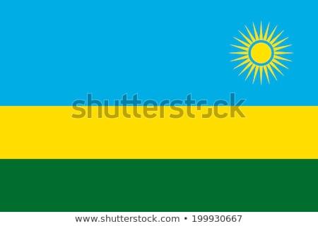 Rwanda banderą biały słońce podpisania zielone Zdjęcia stock © butenkow