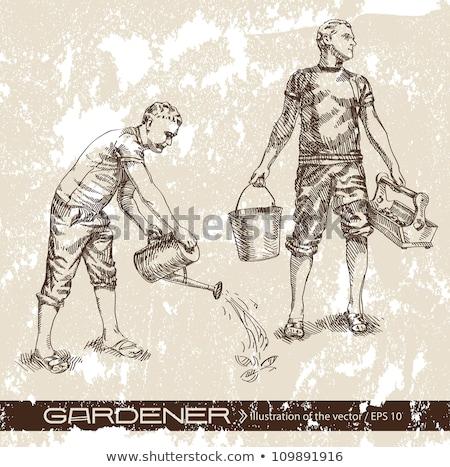 Erkek sulama bahçe kadın adam Stok fotoğraf © IS2