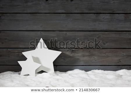 Christmas dekoracje ściany czasu śniegu Zdjęcia stock © wavebreak_media