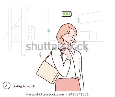 Pracy pracownika kroki kierownik pracy wektora Zdjęcia stock © popaukropa