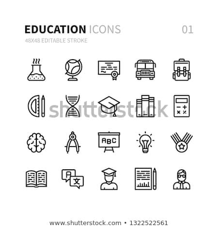 образование обучения онлайн современных иконки Сток-фото © Genestro